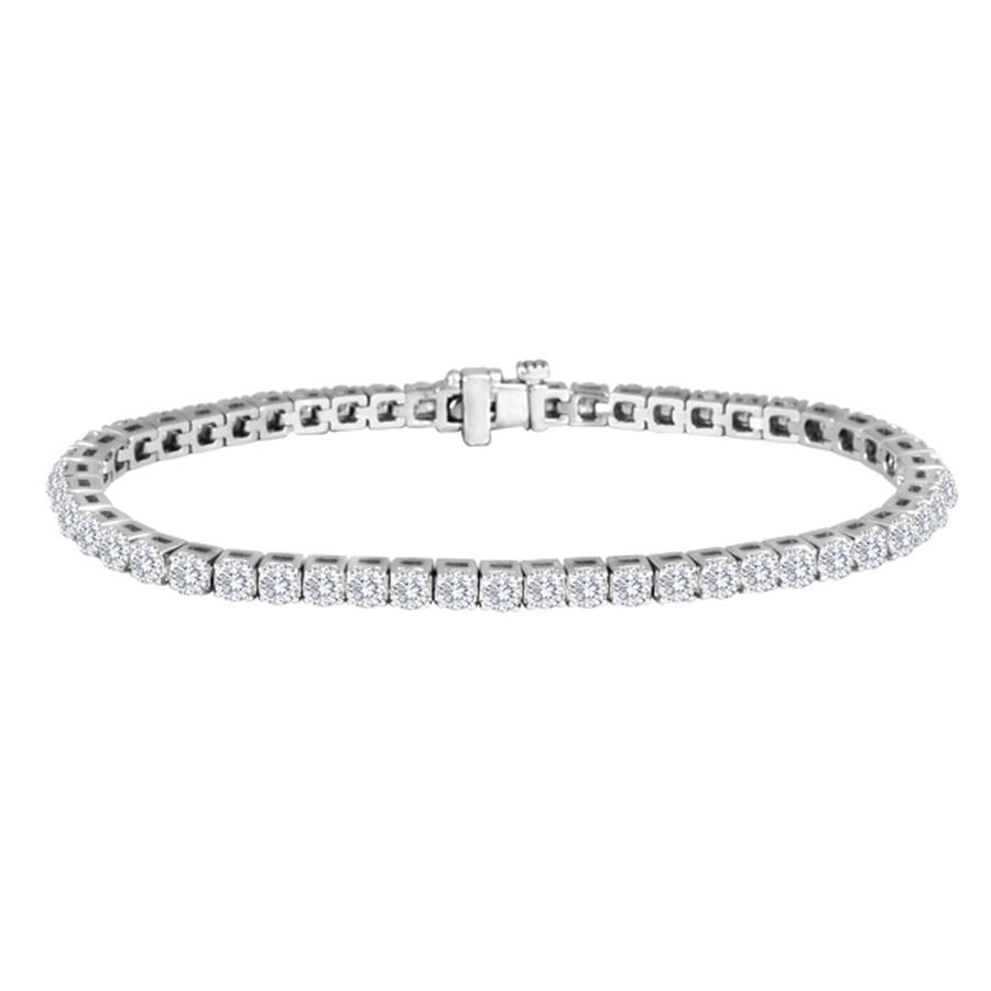 View Round Diamond Tennis Bracelet