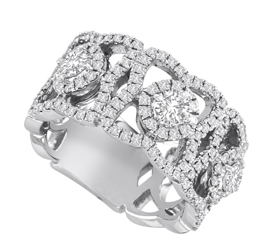 View Round Diamond Fashion Band