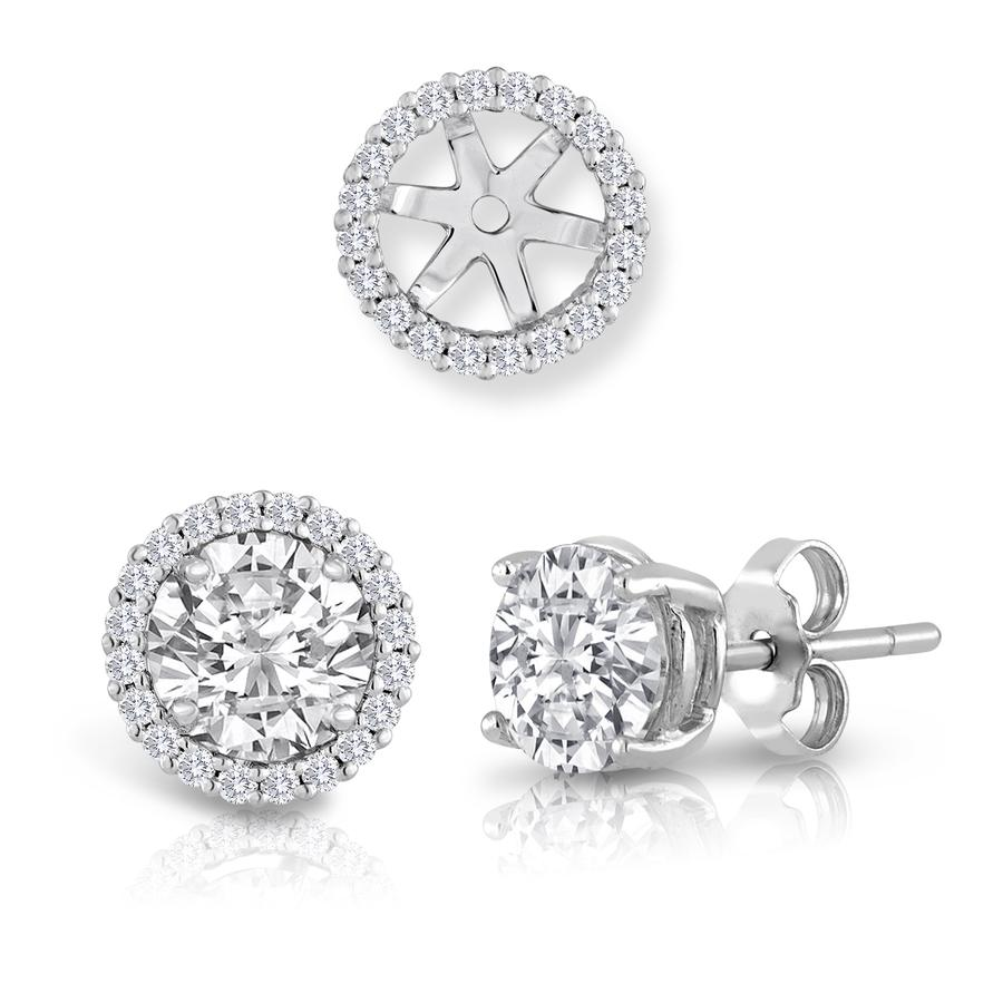 View Round Diamond Earring Jackets