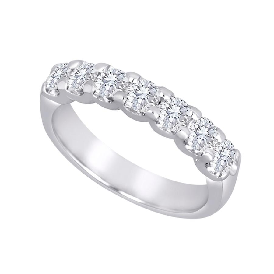 View Shared Prong Diamond 7 Stone Band