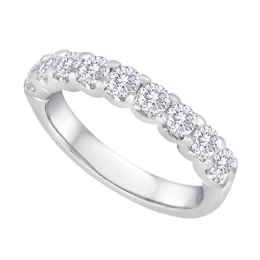View Shared Prong Diamond 9 Stone Band