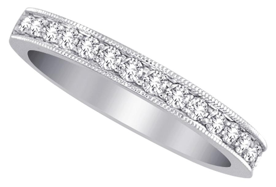 View Diamond Pave Half Way Band