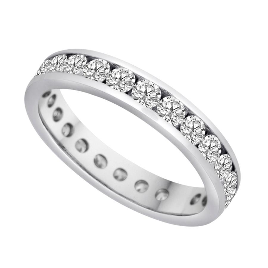 View Channel Set Round Diamond Eternity Band