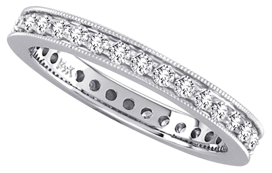 View Pave Set Round Diamond Eternity Band
