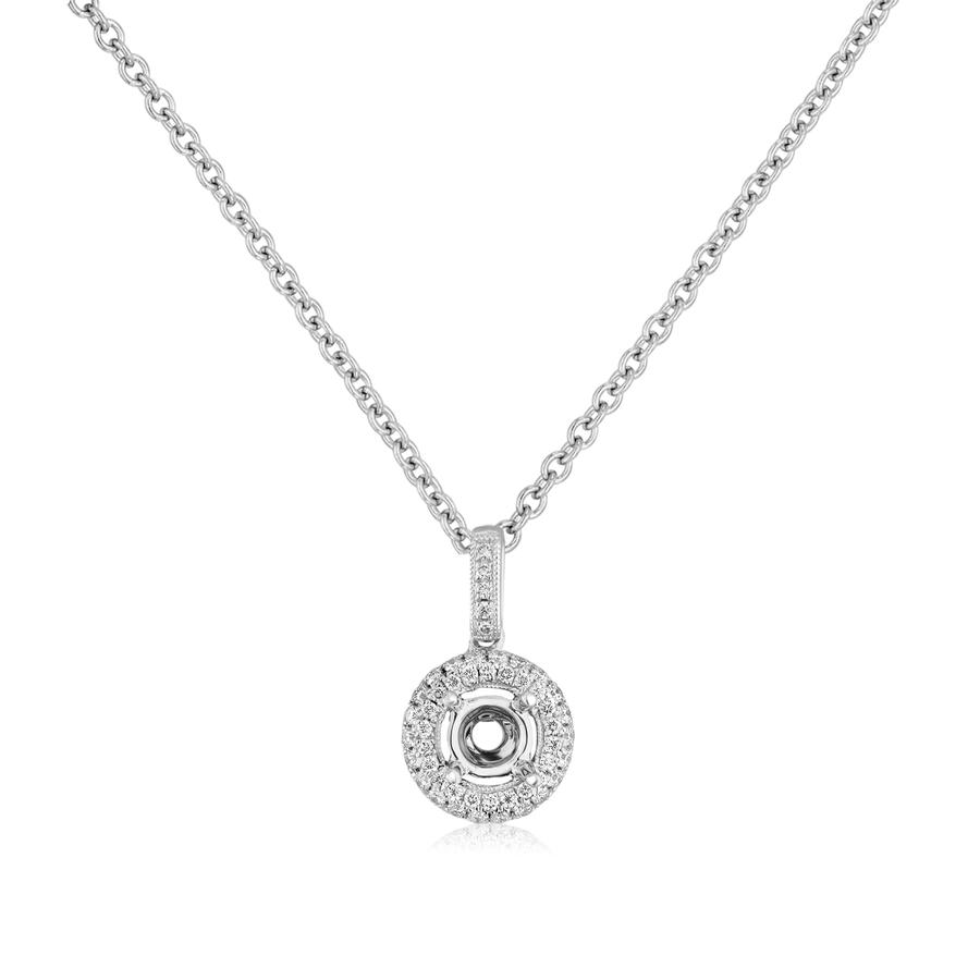 View Diamond Halo Pendant