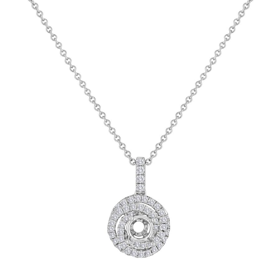 View Round Diamond Design Pendant