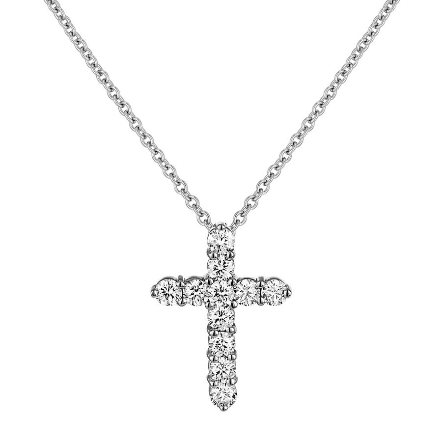 View Round Diamond Cross Pendant