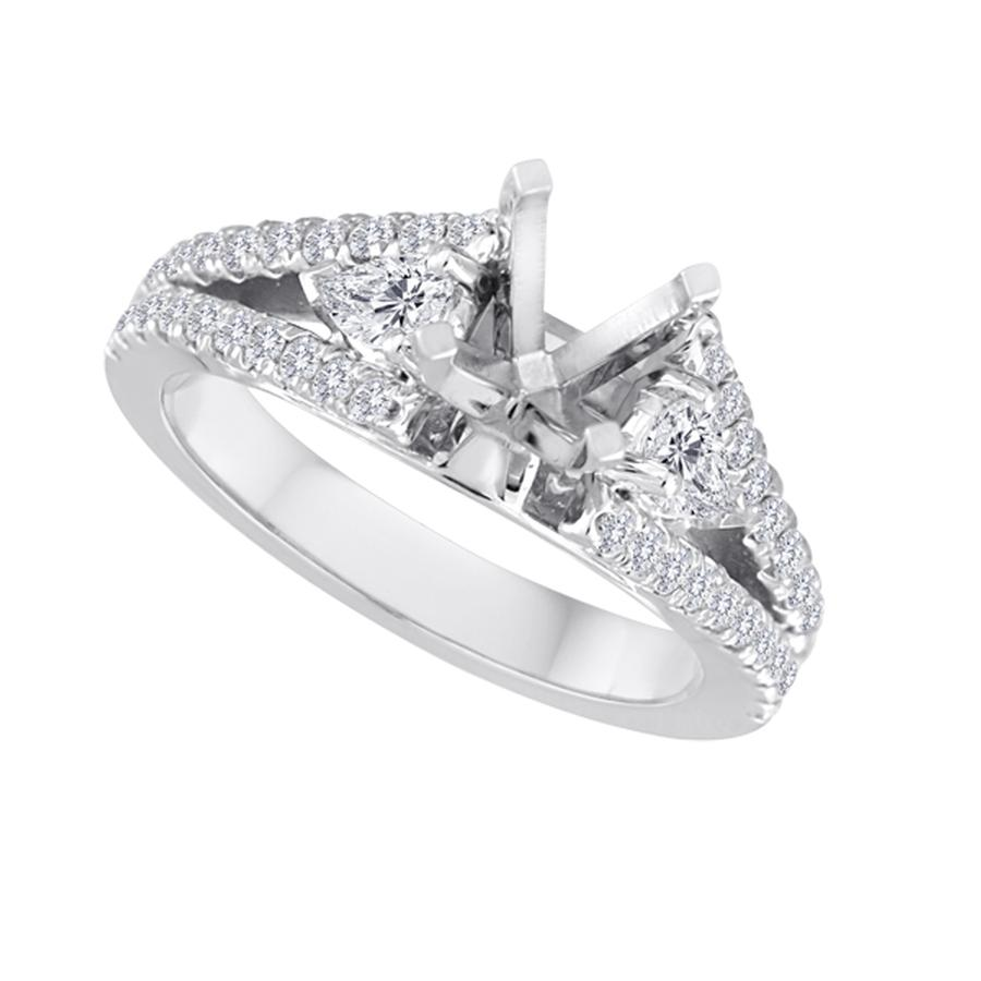 View Split Shank & Pear Shape Diamond Semi Mounting