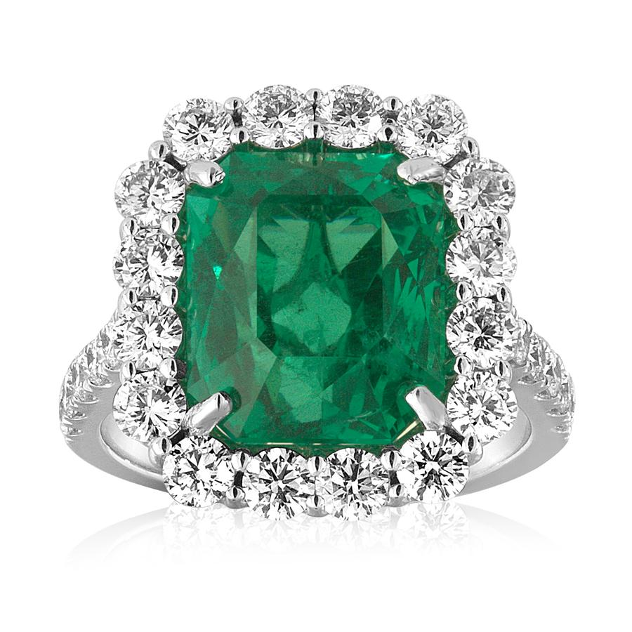 View Emerald & Diamond Ring