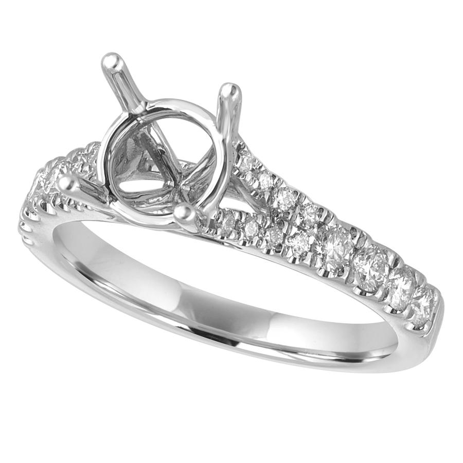 View Round Diamond Split Shank Ring