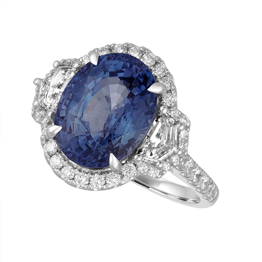View Oval Sapphire & Opulate Diamond Ring